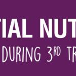 Essential Nutrients in Your Prenatal Diet: Third Trimester