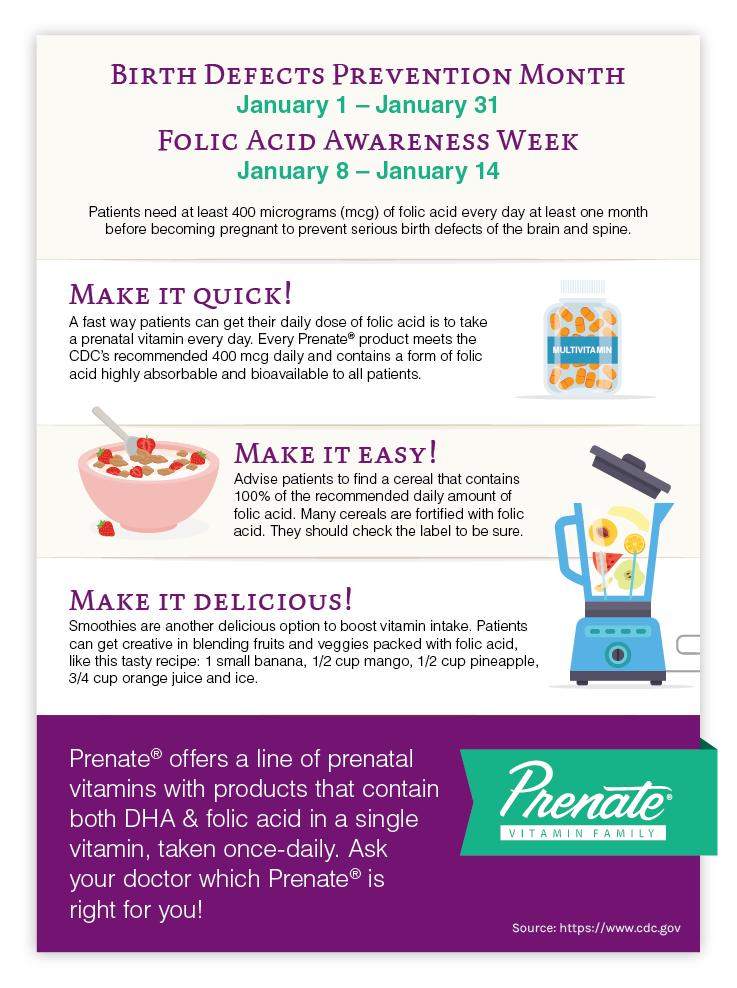 Folic Acid Awareness Prenatal Vitamins with Folic Acid