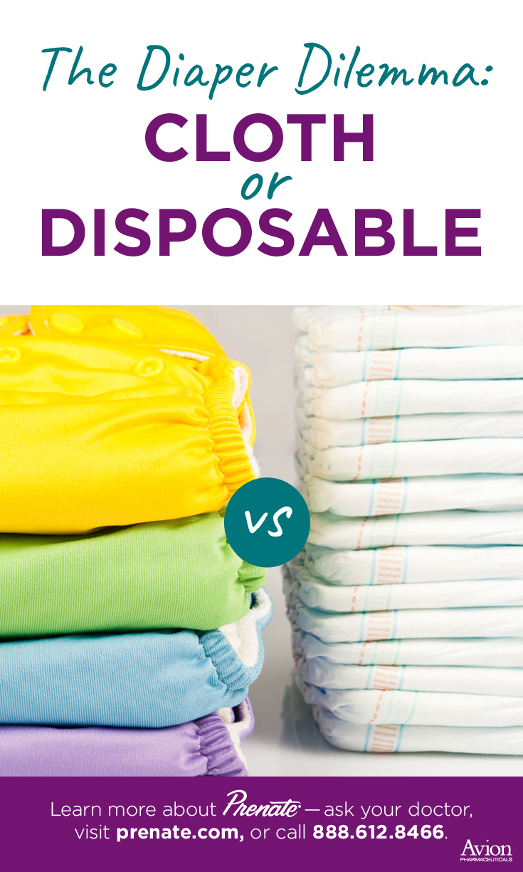 cloth vs disposable diapers Pinterest image