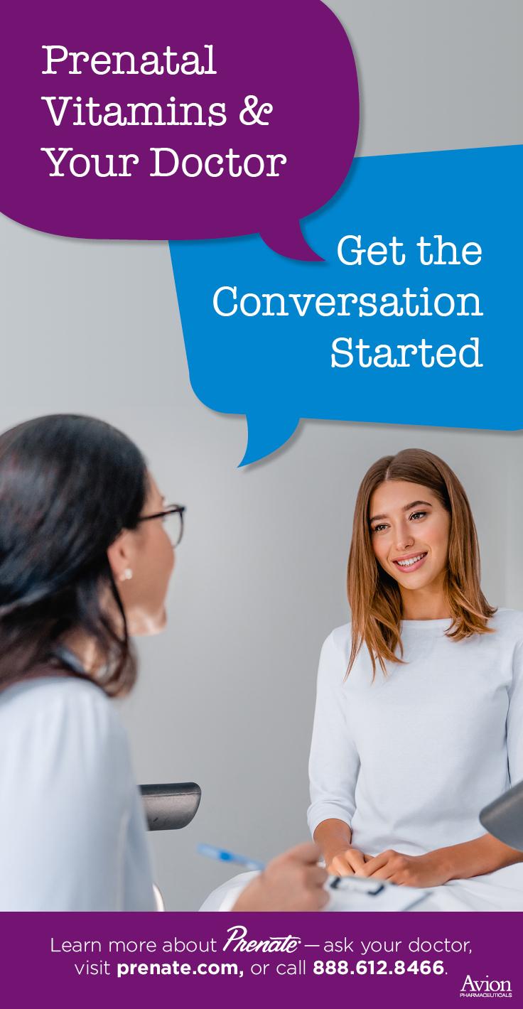 prenatal vitamin conversation starter graphic