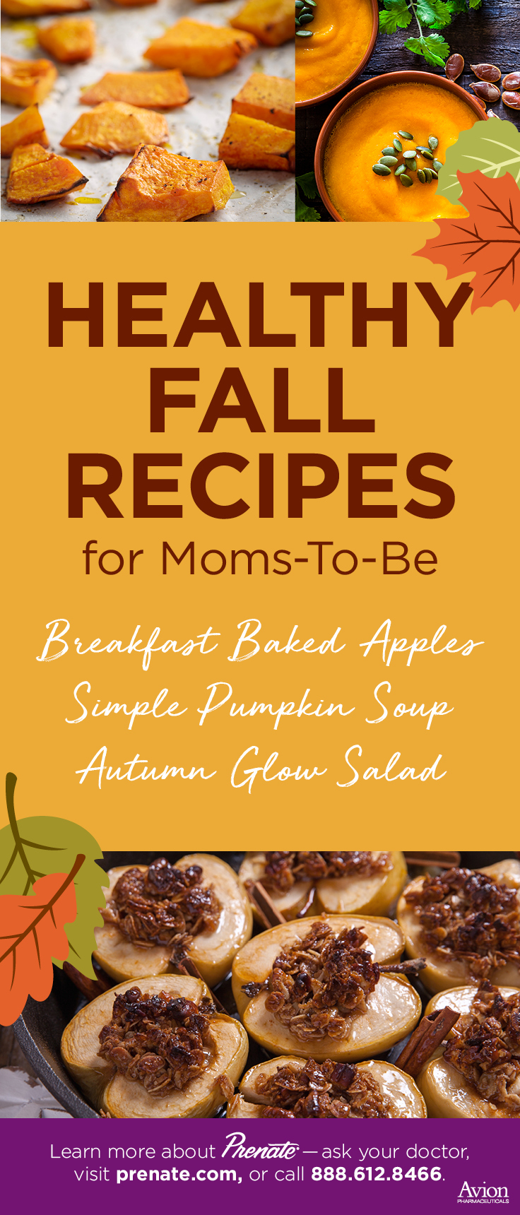 Healthy Fall Recipes graphic