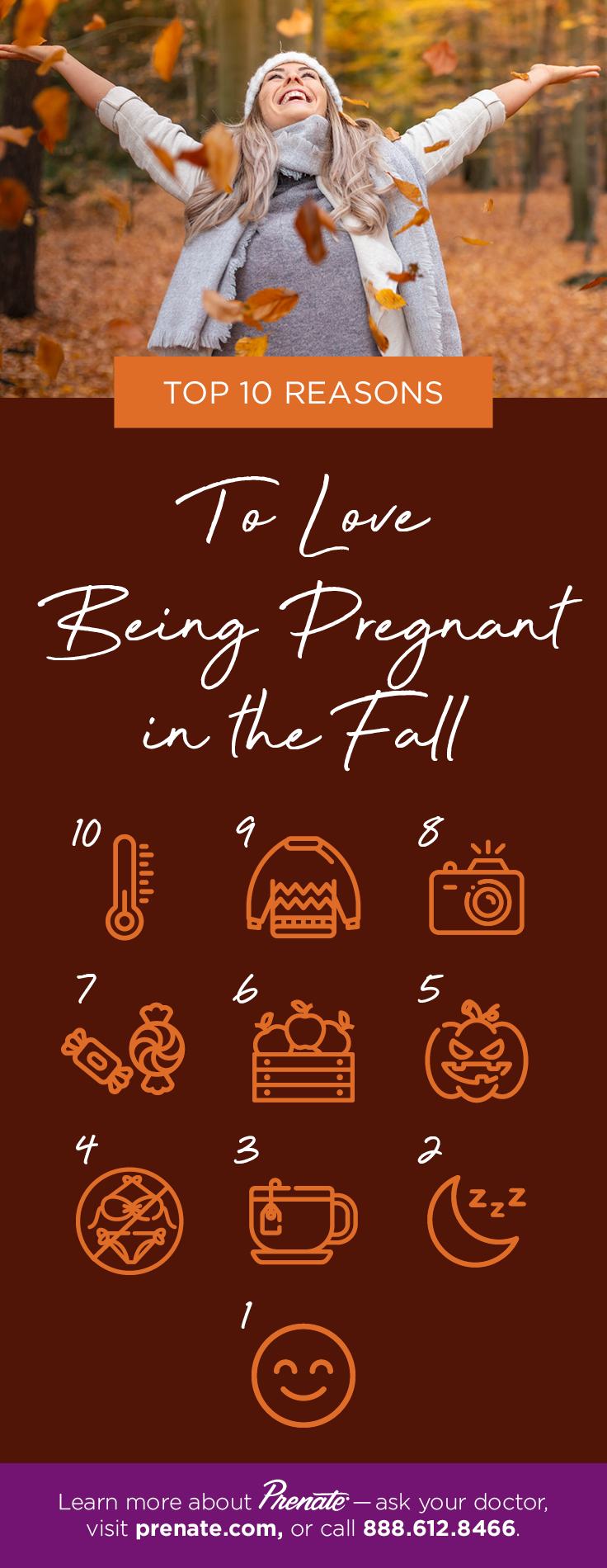 Top 10 Being Pregnant in Fall graphic