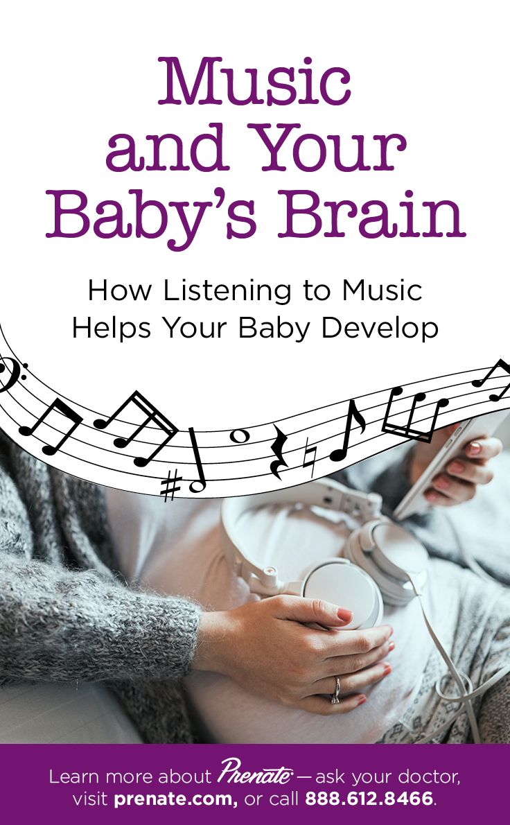 Music Affects Baby's Brain graphic