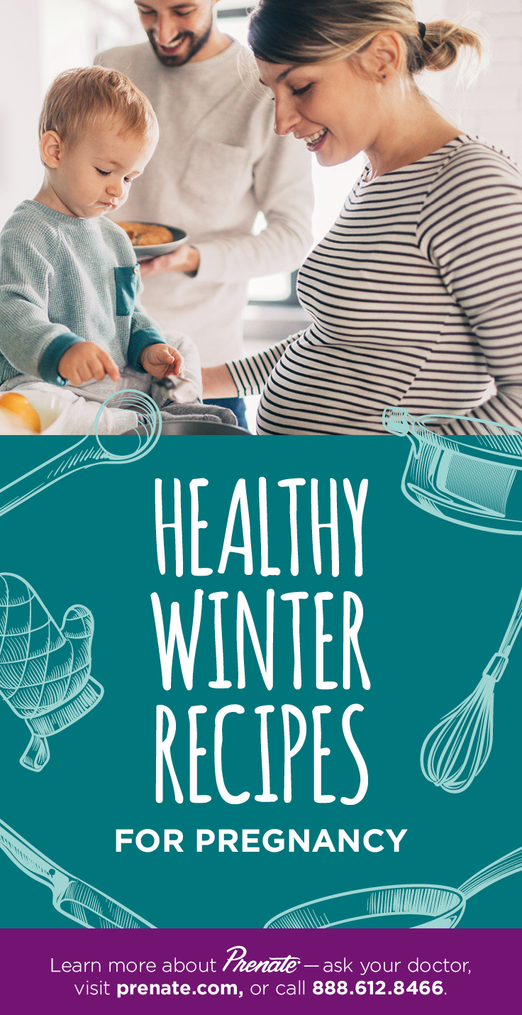 Healthy winter recipes graphic