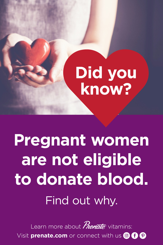 Pregnant women donating blood Pinterest graphic