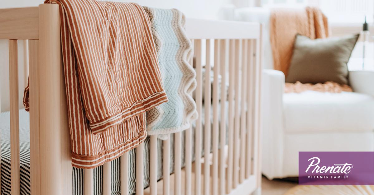 Baby crib in nursery